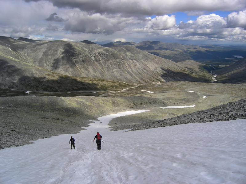 Down from Høgronden in Rondane nationalpark