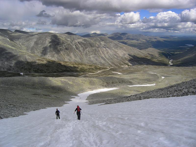 Down from Høgronden in Rondane nationalpark