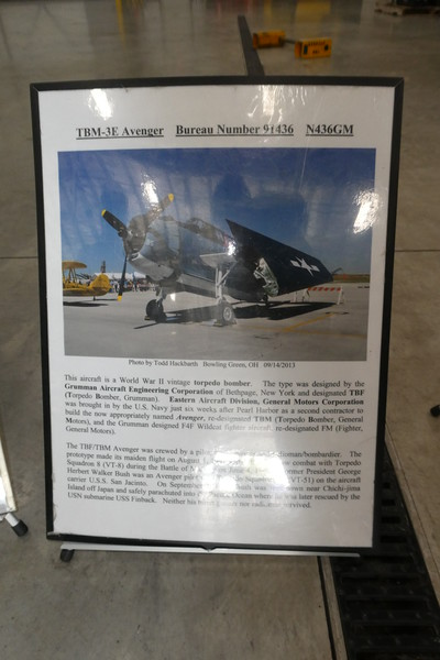 The information plaque on the plane that we saw taking off.