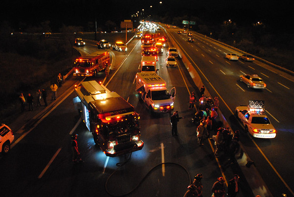 October 18, 2011 - Vehicle Accident w/ Entrapment - DVP @ Lawrence Ave. East