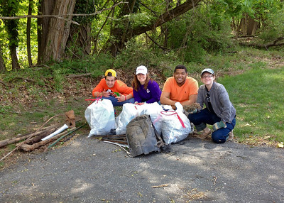 5.4.14 Cleanup Along Sawmill Branch beside Catonsville Historical Society and Candlelight Inn Funeral Home