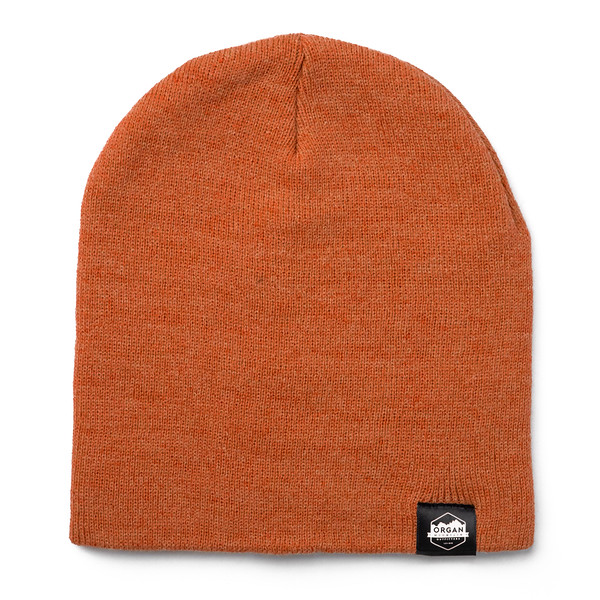Outdoor Apparel - Organ Mountain Outfitters - Hat - 8 Inch Knit Beanie - Heather Orange.jpg