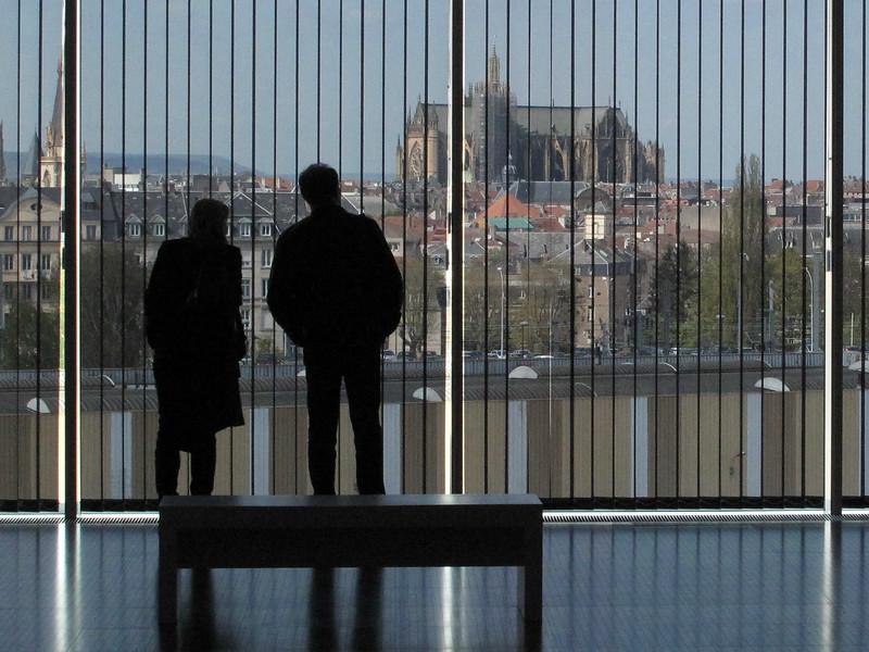 Metz Pompidou Center View of Metz Cathedral