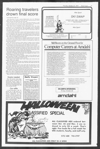 Daily Trojan, Vol. 72, No. 28, October 27, 1977