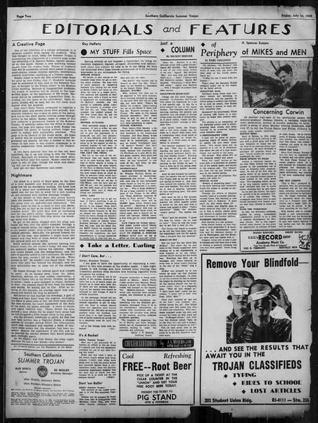 Summer Trojan, Vol. 33, No. 6, July 10, 1942