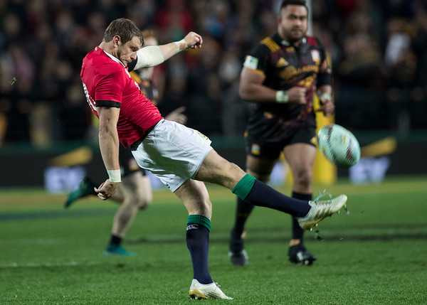 Dan Biggar during game 6 of the British and Irish Lions 2017 Tour of New Zealand,The match between  The Chiefs and British and Irish Lions, FMG Stadium, Hamilton, Tuesday 20th June 2017 (Photo by Kevin Booth Steve Haag Sports)  Images for social media must have consent from Steve Haag