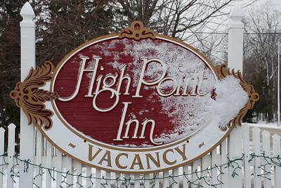 2012 12 28: High Point Inn, Ephraim, WI; sign