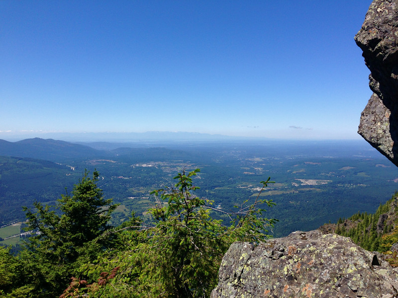 Looking west to Puget Sound from top of Mt Si