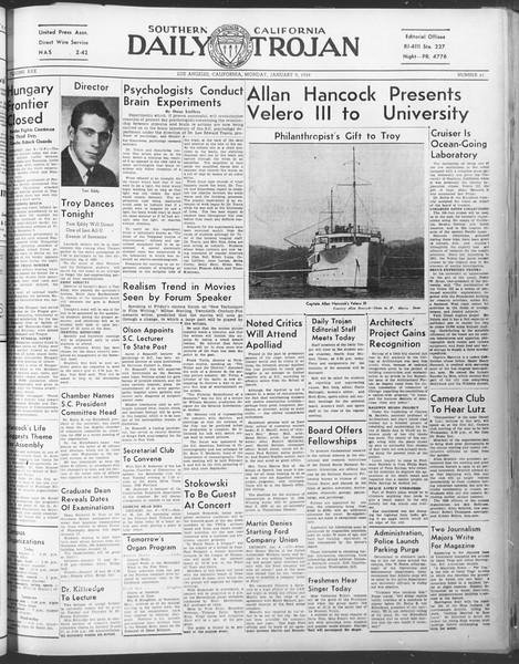 Daily Trojan, Vol. 30, No. 62, January 09, 1939