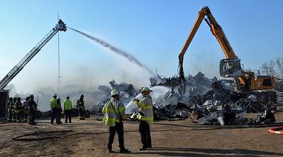 Scrap yard fire - Steel Street Rochester, NY -4/8/21