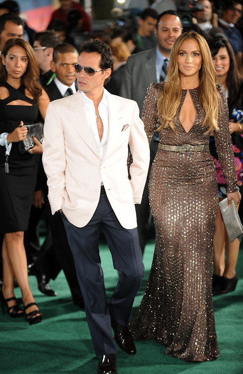 . Mark Anthony and Jennifer Lopez arrive for the 11th Annual Latin Grammy Awards on November 11, 2010 in Las Vegas, Nevada.  (ROBYN BECK/AFP/Getty Images)