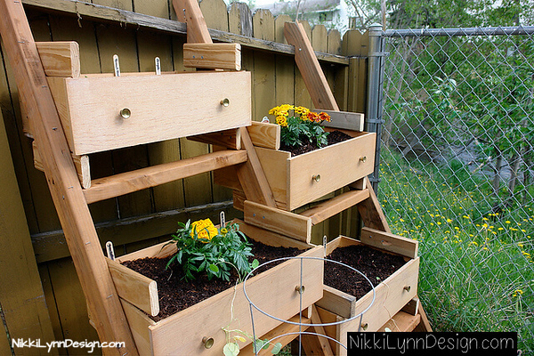 Use Old Dresser Drawers Build a vertical growing space to start your seeds with plenty of room to grow. This design is an excellent way to start your flower seeds.