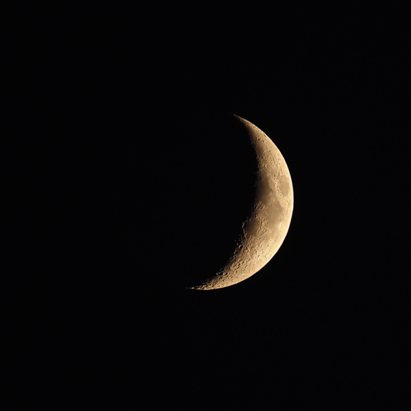 Waxing Crescent Moon 18%