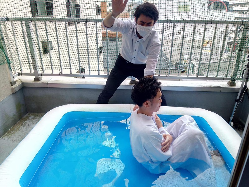 Baptism of male believer