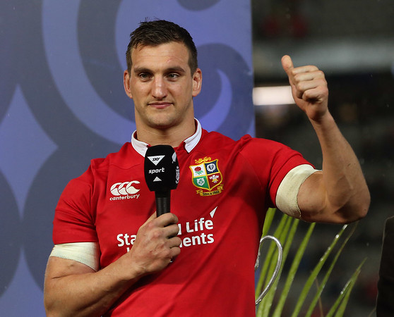 Sam Warburton (c)  during game 10 of the British and Irish Lions 2017 Tour of New Zealand, the third Test match between  The All Blacks and British and Irish Lions, Eden Park, Auckland, Saturday 8th July 2017 (Photo by Kevin Booth Steve Haag Sports)  Images for social media must have consent from Steve Haag