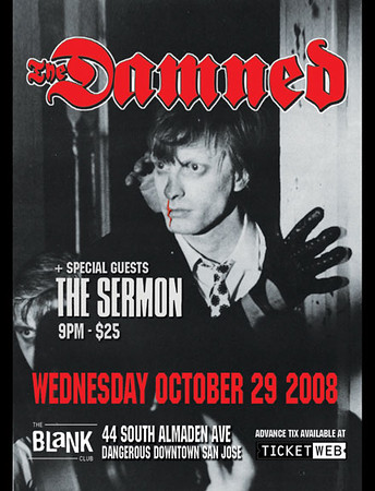 the damned @the blank club 10/30/2008