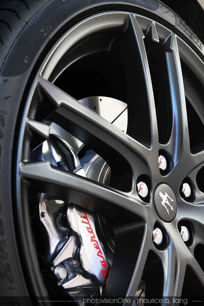Wheels have the Maserati Trident logo designed into the spokes.