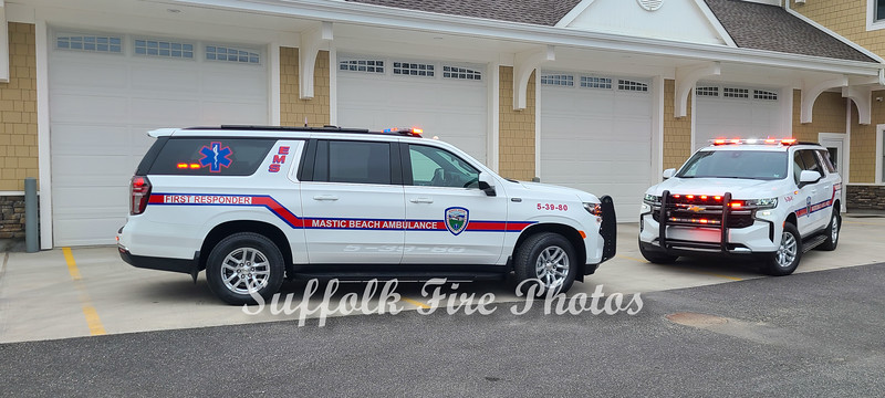 Mastic Beach Ambulance Takes Delivery of 2 2021 Chevy Suburbans 4/10/2021