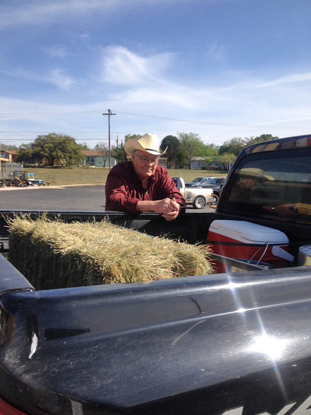 """JOE DOING THE TEXAN THING Nothing says """"Texan"""" like a guy leaning on the bed of his pickup."""