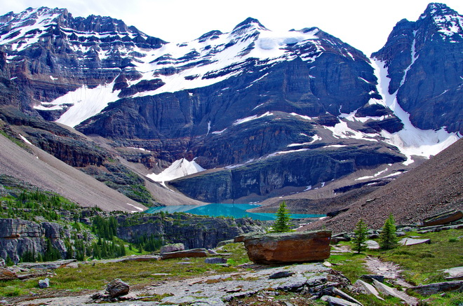 Hiking the trail to Lake O'Hara makes for a gorgeous Canadian outdoor adventure.