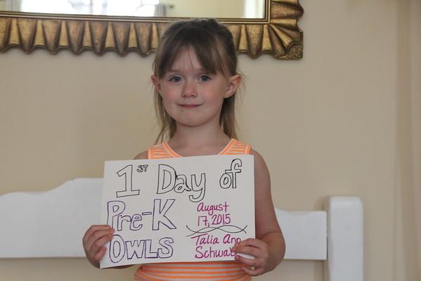 Talia Pre-K First Day