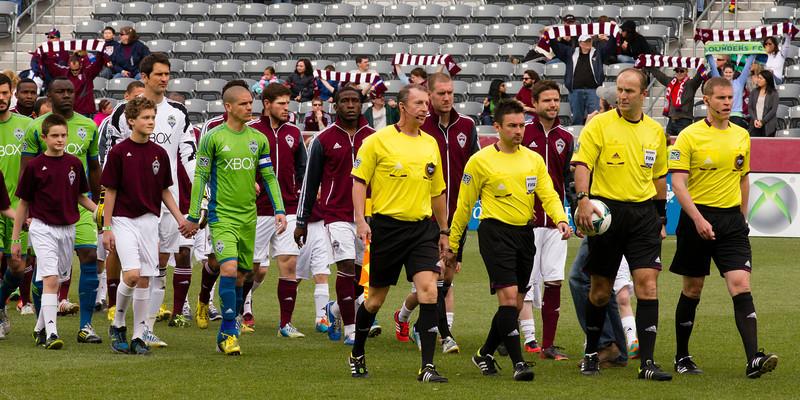 April 20, 2013 MLS Colorado Rapids vs Seattle Sounders