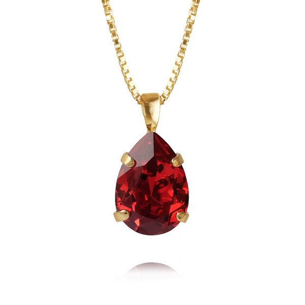 Mini Drop Necklace / Scarlet Gold