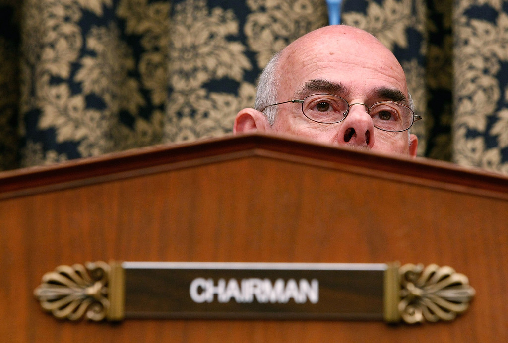 ". House Oversight and Government Reform Committee Chairman Rep. Henry Waxman (D-CA) listens to testimony during a hearing on ""The Role of Fannie and Freddie Mac in the Financial Crisis\"" on Capitol Hill December 9, 2008 in Washington, DC.   (Photo by Chip Somodevilla/Getty Images)"