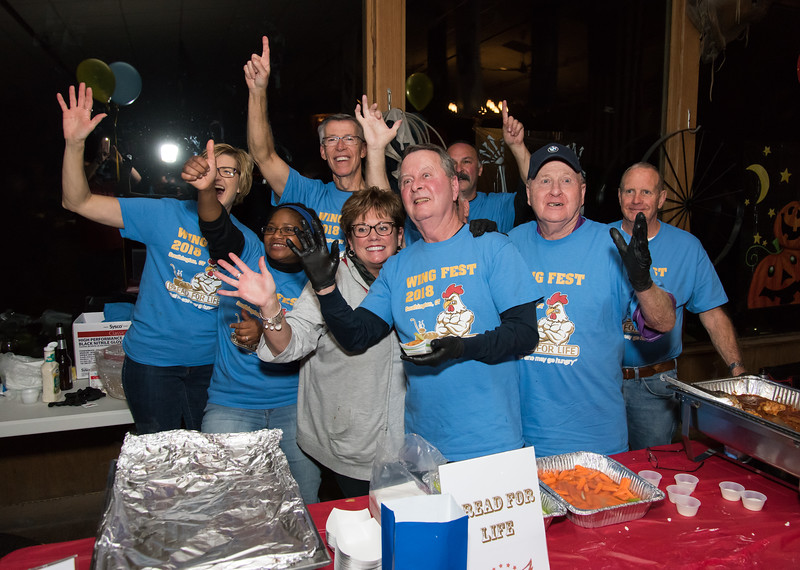 11/05/18  Wesley Bunnell | Staff  The Southington Chamber of Commerce held their 13th annual Wing Fest on Monday evening at The Cadillac Ranch in Southington.  Members of the Bread for Life team all pose for a photo.