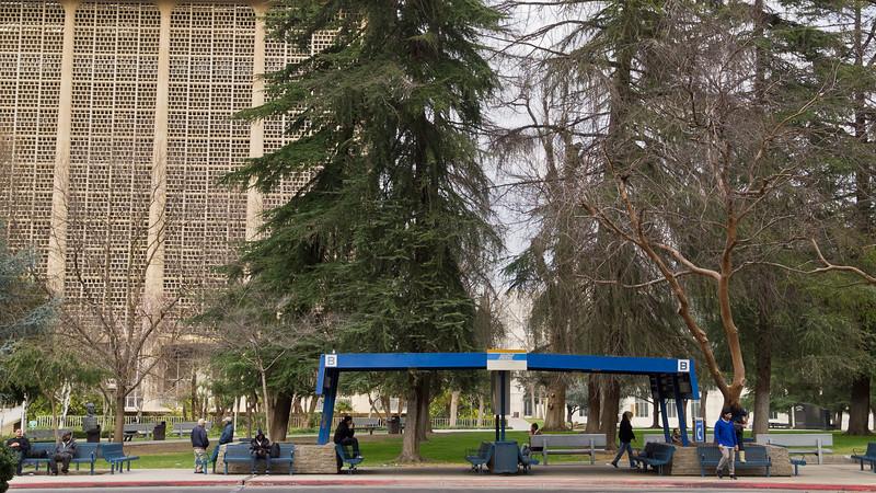 Fresno bus stop.