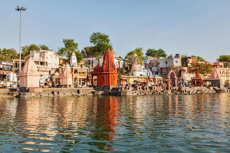 Ghats of holy Kshipra river in Ujjain, Madhya Pradesh, Indiad