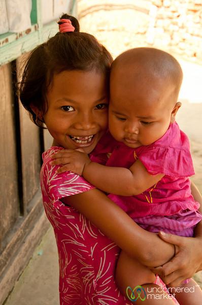 Khashia Baby and Young Girl - Outside Srimongal, Bangladesh