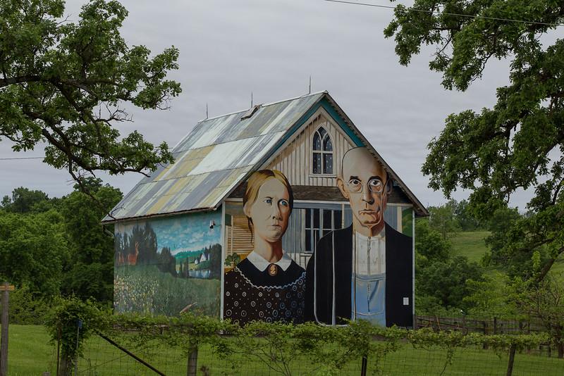 Mt Vernon American Gothic Barn