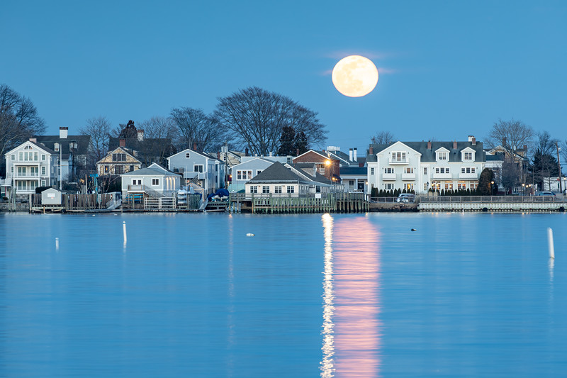Super-moon Rise over Stonington #1