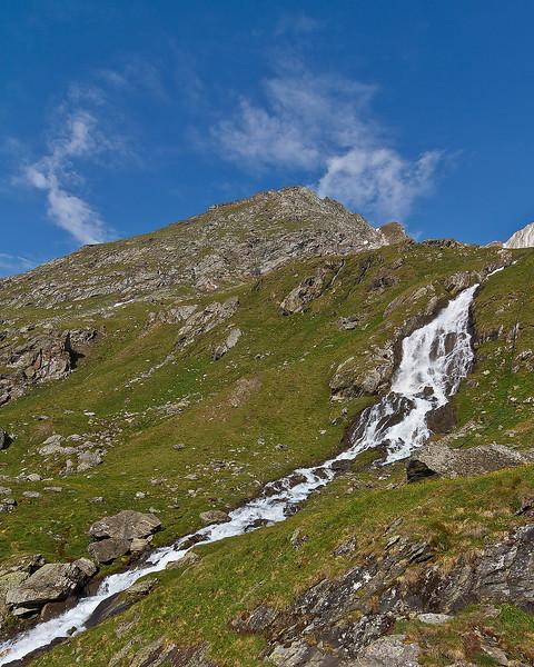 Watervalletje op de tocht terug van EIsseehütte naar Hinterbichl.