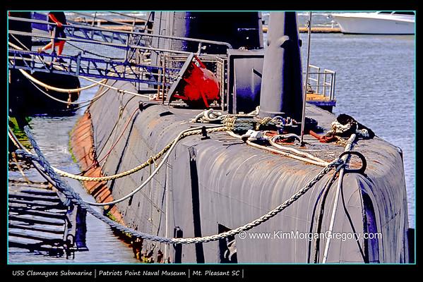 CLAMAGOR SUBMARINE; Patriots Point Naval & Maritime Museum