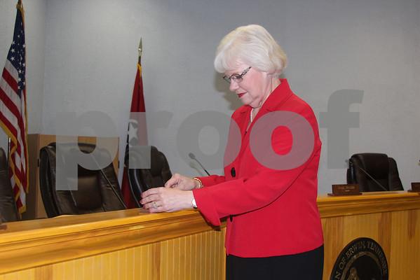Carolyn Tipton Sworn In as New Erwin Alderwoman - April 2014