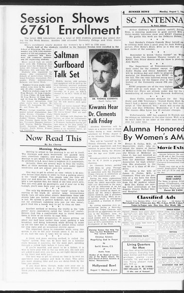 Summer News, Vol. 10, No. 13, August 01, 1955