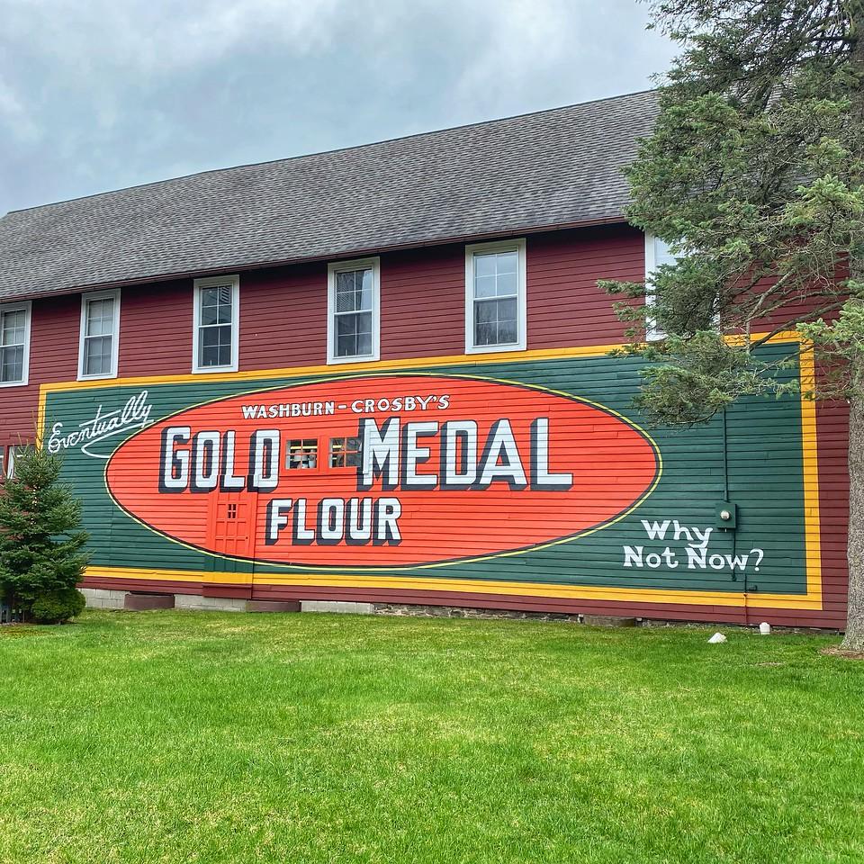 gold medal flour mural - liberty new york