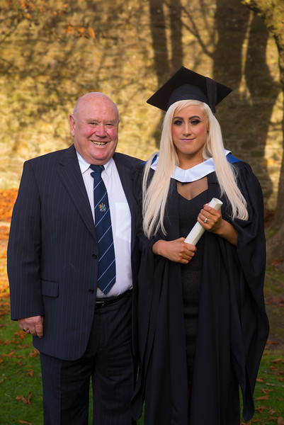 01/11/2017. Waterford Institute of Technology Conferring. Pictured is Natalie Power from Waterford who graduated Bachelor of Arts in Social Care, also pictured is her Dad Richard. Picture: Patrick Browne