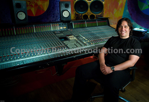 Pedro Ferreira record producer shot at Strongroom Studios London