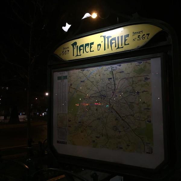 Metro practice after dinner #walking #paris #neighborhoods