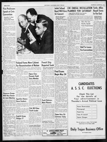 Daily Trojan, Vol. 31, No. 112, March 28, 1940