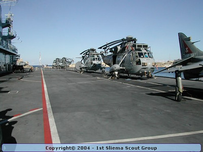 2002-09-29 Visit to Aircraft Carrier