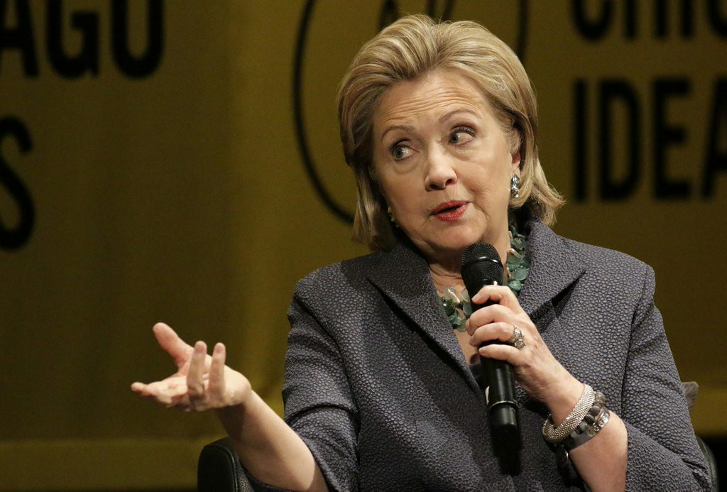 """. 13. HILLARY CLINTON <p>Despite her poverty, donates all speech income to her Human Fund, an idea she stole from George Constanza.   <p><b><a href=\'http://www.usatoday.com/story/opinion/2014/06/25/hillary-clinton-joe-biden-president-poverty-stewart-conan-meyers/11349401/\' target=\""""_blank\""""> LINK </a></b> <p>    (AP Photo/Stacy Thacker)"""
