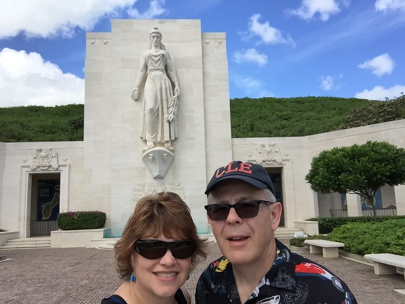 John and I standing in the Court of Honor of the The National Memorial Cemetery of the Pacific