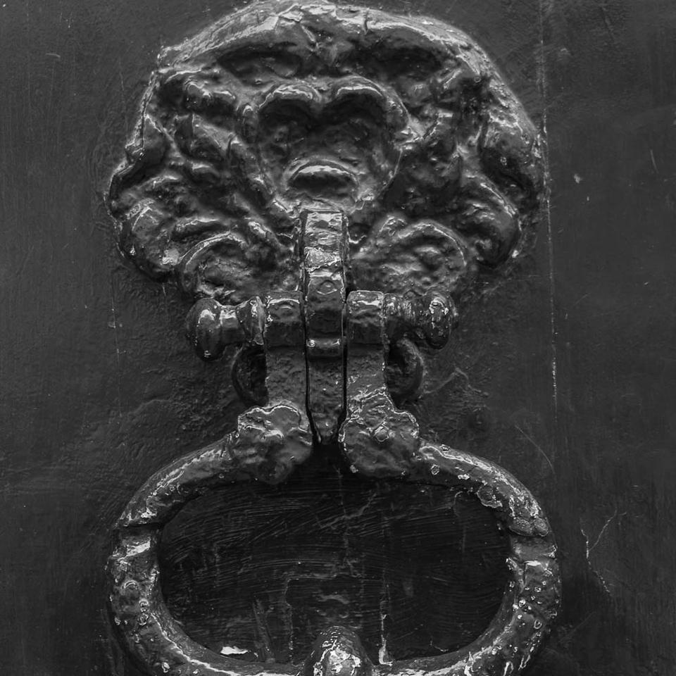Ancient door knocker, Rue de Jean Beauvais, Paris