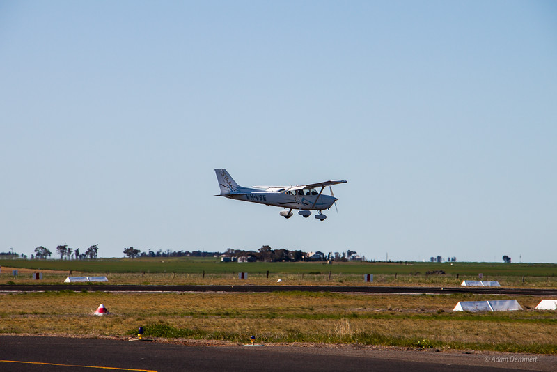 Another small plane coming in for a landing