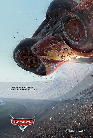 CARS 3 poster continues devastating theme for Lightning McQueen