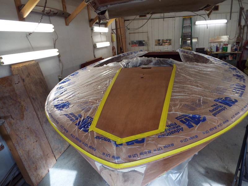 Front king plank masked ready for epoxy coating.
